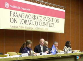 Public hearing on the Framework Convention on Tobacco Control in Geneva, October 2000
