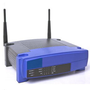 This wireless router emits a signal that a WiFi detector is tuned to pick up.