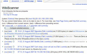 """The """"history"""" tab on a Wikipedia entry allows you to see"""