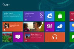 One look at the Windows 8 Start screen and you know you're dealing with a different kind of operating system.