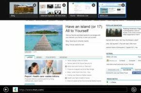You can access Internet Explorer 10 as an app or as a full program on Windows 8.