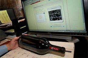 High-end wineries are using a special seal with a bubble pattern on the bottle to prevent wine fraud. The bubble pattern can be matched on the Prooftag website to make sure the wine is authentic.