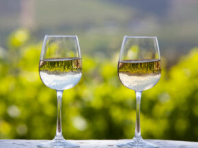 If you're lucky, you'll see a reflection of the vineyard in your wineglass.