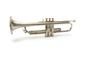 A trumpet's size, shape and material composition determine its resonant frequency.
