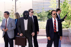A protected witness guarded by U.S. Marshals