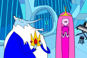 "The Ice King kidnaps another princess, which he considers an acceptable form of courtship. Further study: Watch ""Adventure Time"" on Cartoon Network."