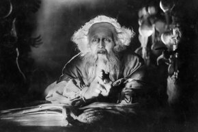 "Faust weighs the worth of his eternal soul. Further study: See the iconic 1926 F. W. Murnau film ""Faust"" or read Johann Wolfgang von Goethe's tragic play of the same name."