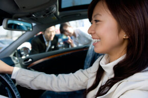 Test driving a car offers a hands-on experience that's impossible to replicate online.