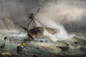 Sailors believed the presence of women aboard a ship would anger the sea gods and cause rough waves and violent weather.