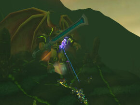 A raid fights Doom Lord Kazzak