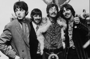 """The Beatles, shown here during a press tour for """"Sgt. Pepper's Lonely Hearts Club Band"""" in May 1967, could have been a smashing success for Decca Records, but Dick Rowe dropped the ball."""