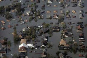 hurricane katrina, submerged houses