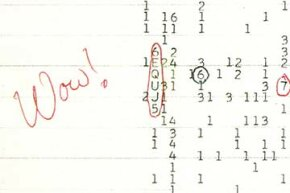 Jerry Ehman could not help scribbling 'Wow!' next to the sequence that seemed to suggest an extraterrestrial communication.