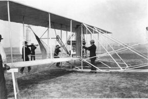 The genesis of the first Wright Flyer can be traced to an experimental biplane kite tested in August 1899.