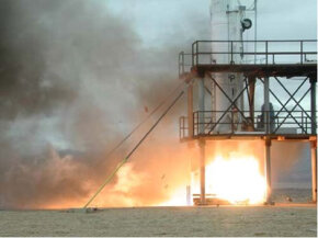 Testing the da Vinci Project rocket