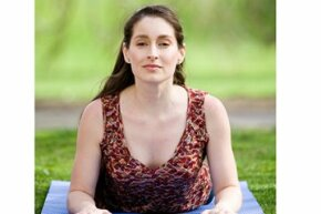 Sphinx pose can counterbalance the effects of days spent hunched over a computer.