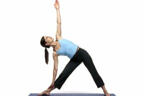 Triangle poses stretches out your lower body.