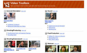 The video toolbox is a place where members can share their tips about video production.