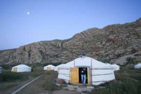 An ancient Mongolian structure has become a popular tourist lodging.