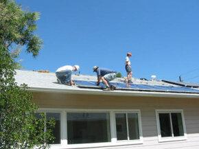 This Habitat for Humanity zero-energy home in Wheatridge, Colo., features solar panels.