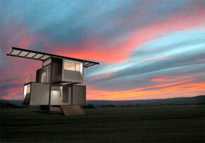 The energy gathered from the PV panels on top of the zeroHouse is stored in batteries so that the house keeps running after sunset and after several cloudy days.