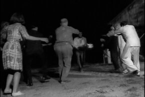 """An important rule of zombie survival: Don't get surrounded. From """"Night of the Living Dead."""""""