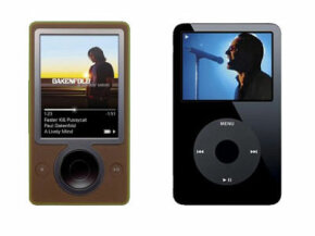 iPod Image Gallery Zune (pictured left), Microsoft's answer to the iPod. See more iPod pictures.