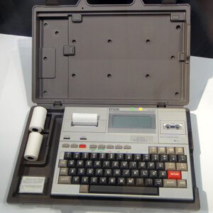 The first actual laptop, the Epson HX-20.