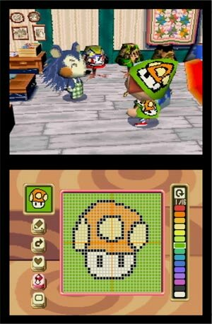 Screen shot of Animal Crossing DS