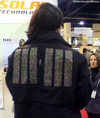 Solar-powered jacket prototype