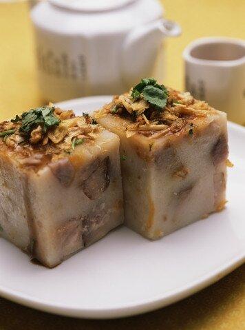 taro root cakes