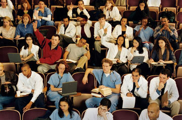 You'll have to take the MCAT if you want to join these medical students someday.