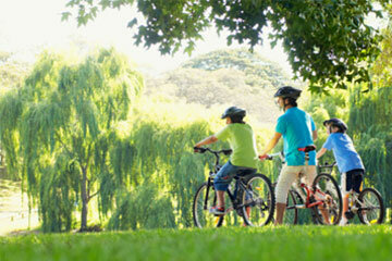 Parks are great for bicycling and plenty of other activities.