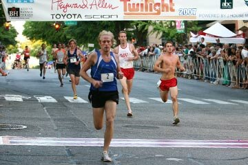 The Athens Twilight 5K begins and ends on Washington Street in the the northeast Georgia city's historic downtown.