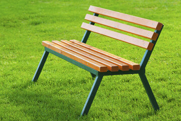 You could paint your backyard bench's legs green to make it stand out more. See pictures of how to build an outdoor kitchen.