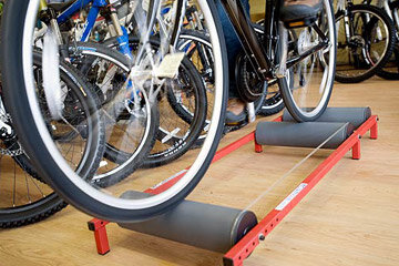 Cyclists from all over the U.S. use these McClain Training Rollers to train indoors, increase endurance and improve cardiovascular fitness.