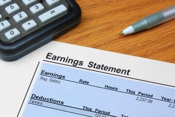 Your paycheck likely shows you both your gross and net income for the pay period, and you can use that to calculate your annual net.