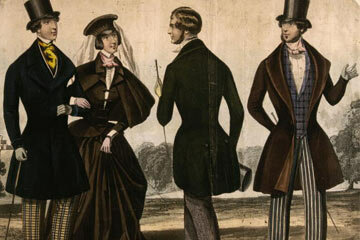 Gents are no exception. The fashion ideal for a man's silhouette in the Victorian era required the masculine gender to get a little shaping from corsets.