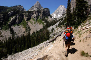 In general, hiking in the Teton Range is pretty challenging, but the views are also spectacular.