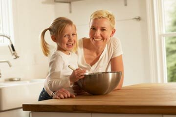 Cooking a gourmet meal for children may introduce them to a wider range of foods. See more parenting pictures.