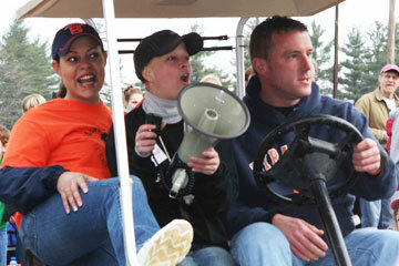 Meaghan Latone, center with megaphone, attended the inaugural Meaghan's 5K race in 2008. She died four months later, losing her battle with nonsmokers' lung cancer.