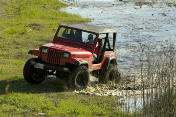 For a 4x4 vehicle equipped with mud-terrain tires, a drive through mud and water is a walk in the park.