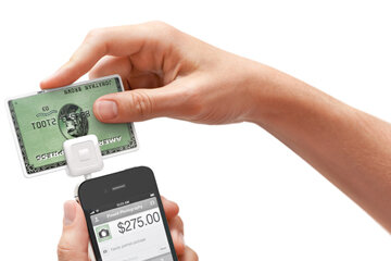The Square device can turn your smart phone into a credit card machine. See banking pictures.