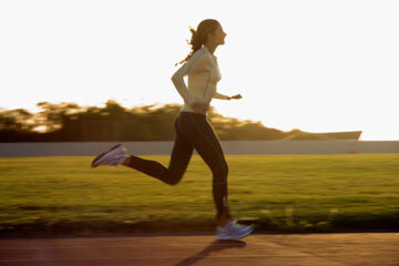 It's best to run strides on a cushioned track or on grass.
