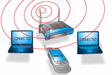 Wireless networks make it easy to connect to the Internet. See more computer networking pictures.