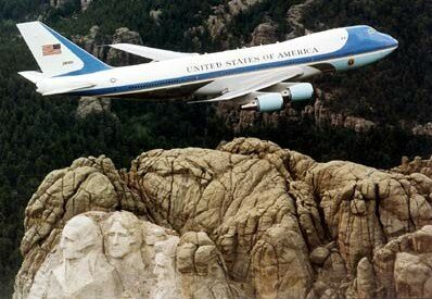 Flight Image Gallery Air Force One flies over Mount Rushmore. See more pictures of flight.
