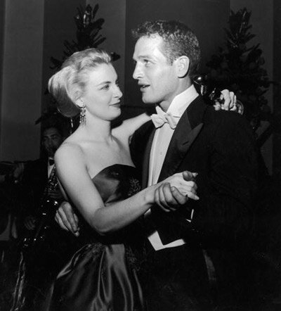 Paul Newman and Joanne Woodward dancing at the 1958 Academy Awards after-party
