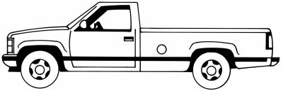 Learn how to draw this pickup truck.