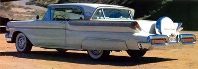 This 1957 Mercury Turnpike Cruiser hardtop came with a continental kit, a popular Fifties accessory.