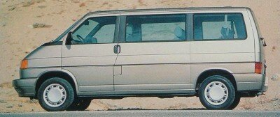 The 1993 Volkswagen Bus had a 109-horsepower 2.5-liter inline five-cylinder engine, but at 3,800 pounds, it was not enough to move the Bus with much verve.